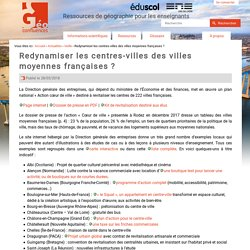 Redynamiser les centres-villes des villes moyennes françaises ?