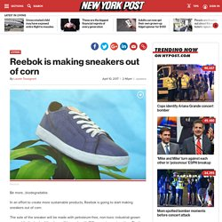 Reebok is making sneakers out of corn