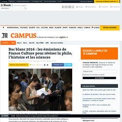 Bac blanc : réécoutez les émissions de France Culture-LeMonde pour réviser