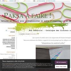 #64 réédition : Catalogue des fichiers ortho en partage - Paksa à faire !