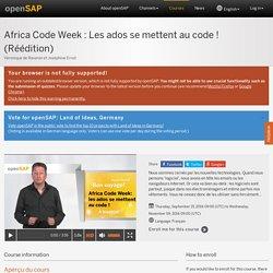 Africa Code Week : Les ados se mettent au code ! (Réédition) - Véronique de Ravaran et Joséphine Ernst