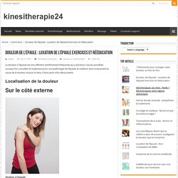 Douleur de l'épaule : Luxation de l'épaule Exercices et rééducation – kinesitherapie24