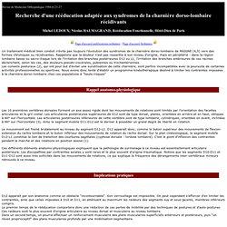 Rééducation des syndromes de charnière thoraco-lombaire