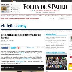 Beto Richa é reeleito governador do Paraná - 05/10/2014
