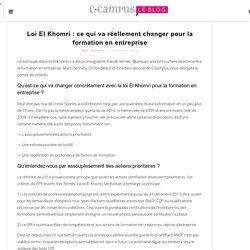Loi El Khomri : ce qui va réellement changer pour la formation en entreprise