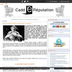 CADD E REPUTATION 16/05/13 Peut-on réellement identifier un signal faible, et comment ?