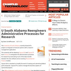U South Alabama Reengineers Administrative Processes for Research