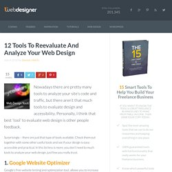 12 Tools To Reevaluate And Analyze Your Web Design