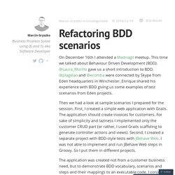 Refactoring BDD scenarios