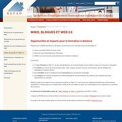 WIKIS, BLOGUES ET WEB 2.0