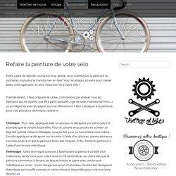 Refaire la peinture de votre vélo