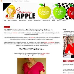 """KnotTEE"" refashion tutorial....Made by Rae Spring Top challenge #2"