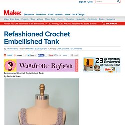 Refashioned Crochet Embellished Tank