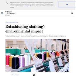 Refashioning clothing's environmental impact
