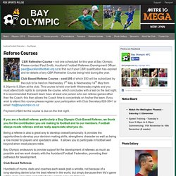 Referee Courses - Bay Olympic