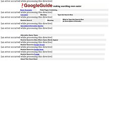 Google Guide Quick Reference: Google Advanced Operators (Cheat Sheet)