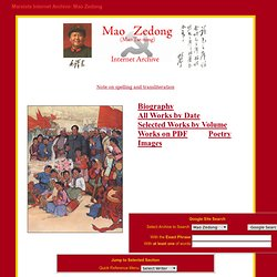 Reference Archive: Mao Zedong