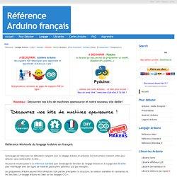 Référence Arduino français Main/Mini Reference