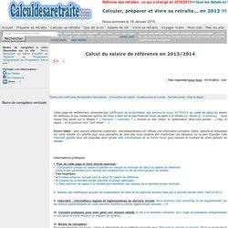 Salaire de référence - CalculDeSaRetraite.com