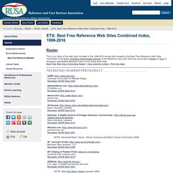 ETS: Best Free Reference Web Sites Combined Index, 1999-2015