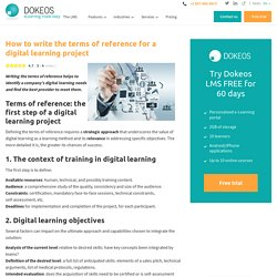 Rédiger le cahier des charges d'un projet de digital learning