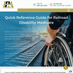 Quick Reference Guide for Railroad Disability Medicare - Medicare Insurance AZ