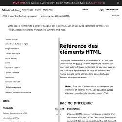Référence des éléments HTML - HTML