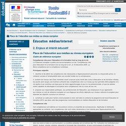Cadre de référence européen — Enseigner avec le numérique