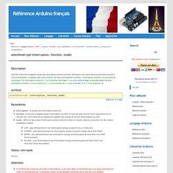Référence Arduino français Main/Attach Interrupt