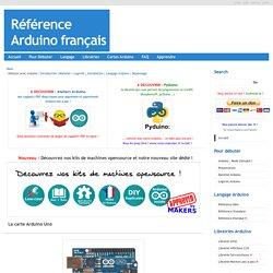 Référence Arduino français Main/Materiel Uno