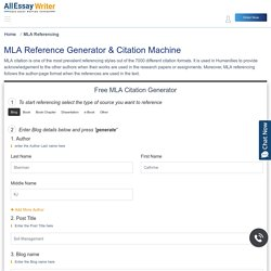 MLA Reference Generator- Citation Machine For Free