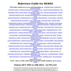 Reference Guide for HERBS