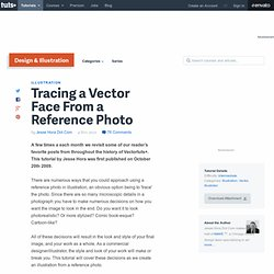 Tracing a Vector Face From a Reference Photo