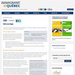 Faire un stage - Le site de référence sur l'immigration et la vie au Québec