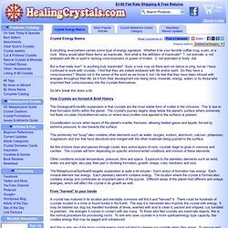 Crystal Energy Basics - Crystal Reference Library