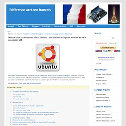 Référence Arduino français Main/Debuter Installation Linux