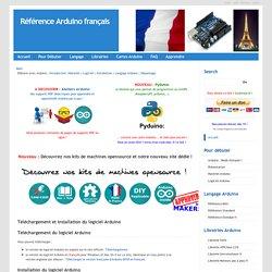 Référence Arduino français Main/Debuter Installation