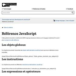 Référence JavaScript