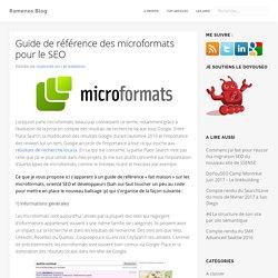 Guide de référence des microformats pour le SEO