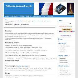 Référence Arduino français Main/Apprendre Fonctions Presentation
