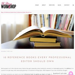 10 Reference Books for Professional Editor