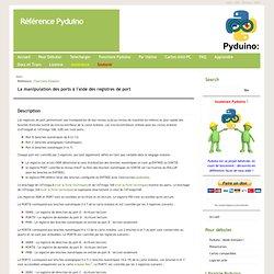 Référence Pyduino Main/Port Manipulation