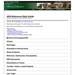 APA Reference Style - 6th edition 2010