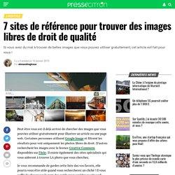 7 sites de référence pour trouver des images libres de droit de qualité