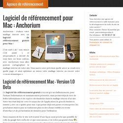 Logiciel de référencement pour Mac : Anchorium