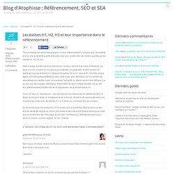 Blog d'Atophisse : Référencement, SEO et SEA