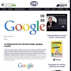 Le référencement d'un site dans Google