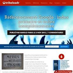 Référencement Google : index primaire et index complémentaire