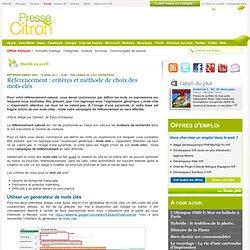 Référencement : critères et méthode de choix des mots-clés