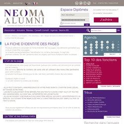 La fiche d'identité des pages - SEO : Règles de bases du référencement naturel - TIC, ebusiness - Les Experts - Réseau neoma-alumni.com